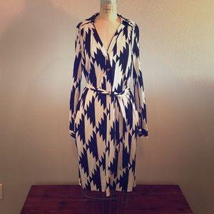 Diane Von Furstenberg black and ivory dress